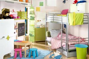 10平米现代简约缤纷色彩儿童房装修效果图