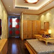 新中式风格卧室榻榻米装修效果图