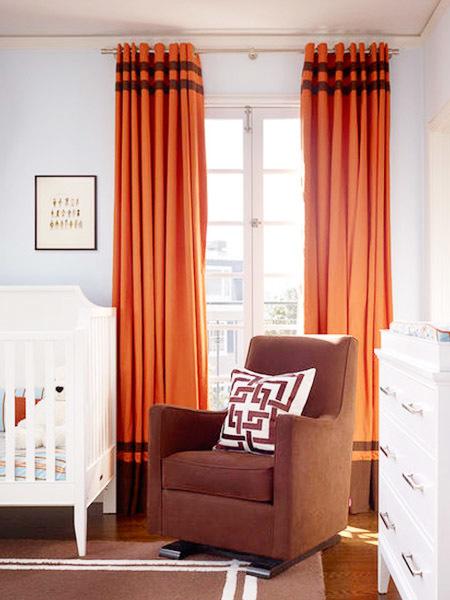 别墅型美式风格精致儿童房窗帘设计效果图