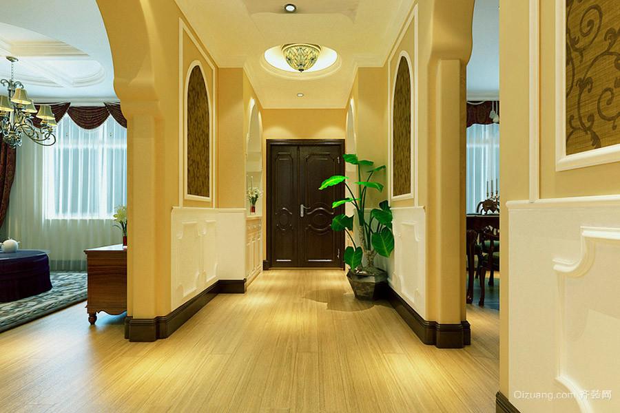 别墅型欧式风格进门玄关设计效果图