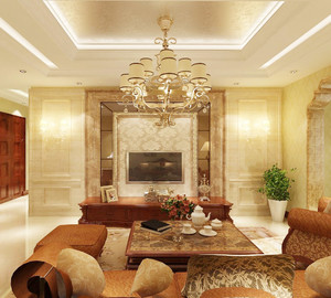 法式风格豪华别墅客厅装修设计赏析