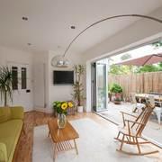 90平方米混搭开放式客厅设计效果图