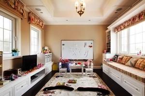 美式田园别墅客厅装修设计效果图
