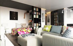 小户型现代风格时尚小公寓装修效果图