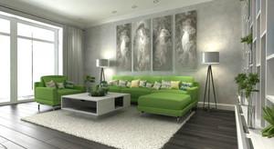 80平米现代家居明亮色彩搭配室内装修效果图