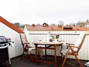现代北欧风格露台装修效果图