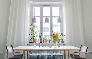 现代简约风格餐厅窗帘装修效果图