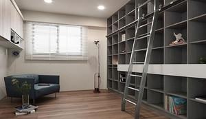 10平方米现代简约风格书房装修效果图