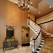 欧式风格别墅楼梯设计效果图
