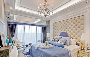 公寓欧式卧室背景墙装修效果图