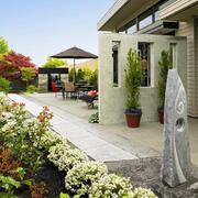 精致现代风格别墅入户花园装修效果图