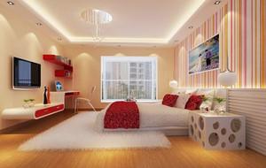 现代简约风格大户型卧室背景墙装修效果图