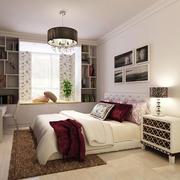 现代简约风格小户型卧室飘窗装修效果图