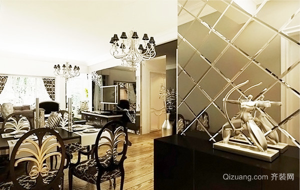 欧式风格三居室设计效果图大全