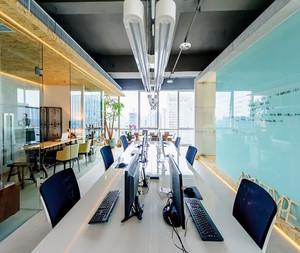 随性简约办公室装修设计图