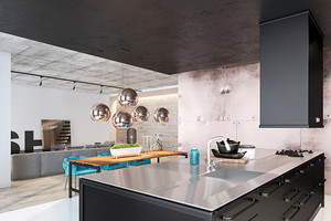 90平米现代loft风格公寓装修效果图赏析