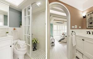 三室两厅美式田园风格室内装修效果图赏析