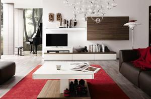 现代风格大户型实木客厅电视柜装修效果图大全
