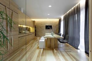 大户型现代风格自然舒适实木室内装修效果图