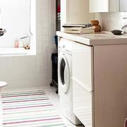 都市简约风格6平米卫生间洗衣机装修效果图