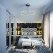 简欧风格三居室室内主卧室吊灯装修效果图赏析