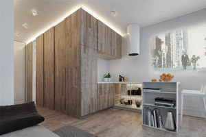 50平米北欧风格简约女生单身公寓装修效果图