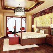 120平米古典新中式卧室装修效果图