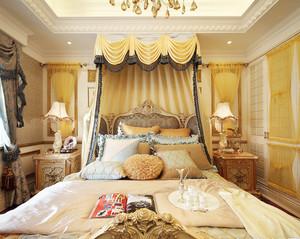 雅致巴洛克风格别墅卧室装修效果图