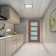 现代简约民国风小厨房装修效果图