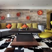 现代简约风客厅背景墙装修效果图