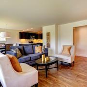 别墅型简约风格开放式客厅装修效果图