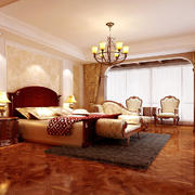 欧式古典风格别墅卧室装修效果图