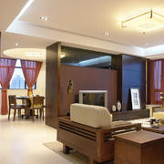 新中式风格简约风格客厅隔断设计效果图赏析