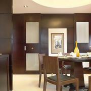 大户型现代中式风格餐厅设计效果图