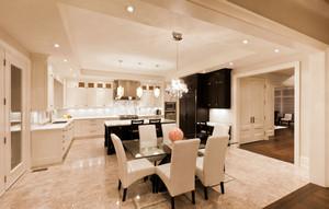 200平米别墅简欧风格精致开放式厨房装修效果图