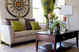 小户型现代美式风格客厅背景墙装修效果图
