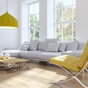 现代风格别墅室内简约客厅吊灯设计效果图