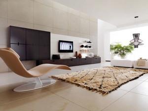 110平米极简主义风格客厅电视背景墙装修效果图