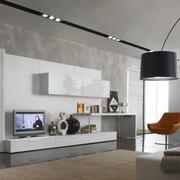 100平米现代简约风格客厅电视背景墙装修效果图