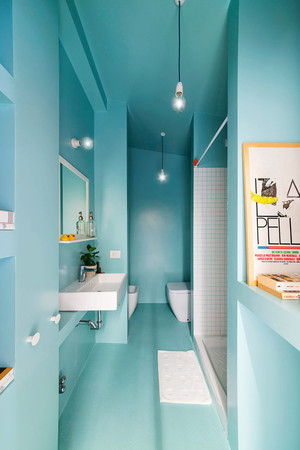 地中海风格大户型室内卫生间装修效果图