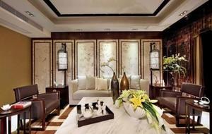 全新中式别墅典雅卧室装修效果图