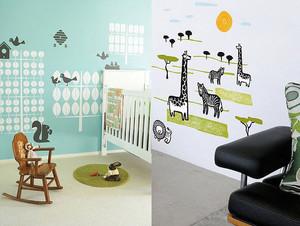 5平米简约风格时尚创意儿童房墙贴装修效果图