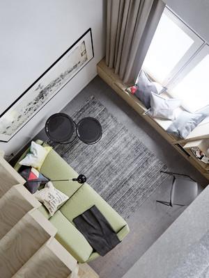 30平米简约温馨错层公寓装修实景图