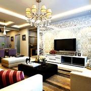 120平米现代简约风格客厅装修图