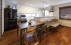 小户型日式风格开放式厨房装修效果图