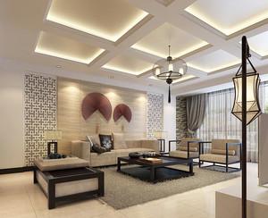 大户型东南亚风格客厅装修效果图