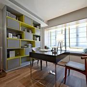 现代简约风格大户型大书房装修效果图