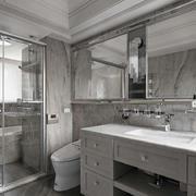 三室两厅现代简约风格卫生间隔断装修效果图
