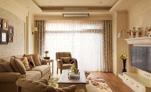 90平米欧式风格精致客厅窗帘设计效果图