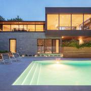 200平米豪华别墅室外泳池装修效果图